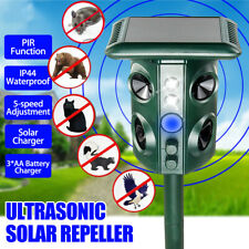 Birds Cat Dog Pest Animal Solar Ultrasonic Power Repeller Repellent Sensor