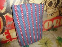 SPRINGS PATRIOTIC STARS STRIPES BLUE RED WHITE TWIN FLAT SHEET 64 X 92