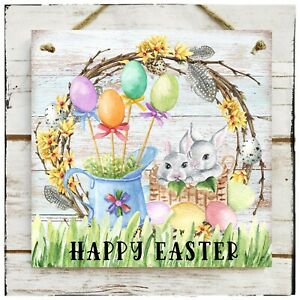 Wooden Hanging sign Happy Easter