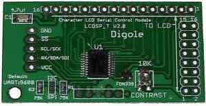 Serial: UART/I2C/SPI Adapter für 1602/1604/2002/2004/4002 LCD Arduino/AVR/PIC