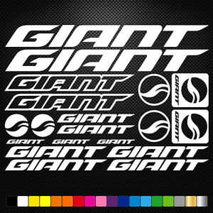 FITS Giant Vinyl Stickers Sheet Bike Frame Cycle Cycling Bicycle Mtb Road