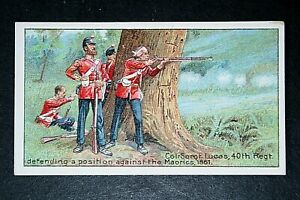 40th Regiment of Foot    New Zealand Wars   Vintage Illustrated Card
