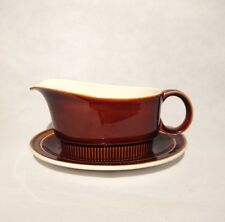 Vintage Poole Chestnut Gravy Boat and Matching Dish 1960's