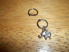 "Lucky Elephant Tragus Cartilage Captive Ring 3/8"" 16g"