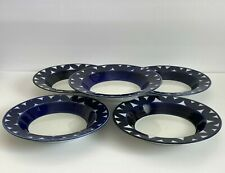 Arabia of Finland Sotka Rimmed Soup Bowls Plates Set of 5