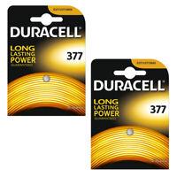 20 x Duracell 377 Watch Batteries Silver Oxide 1.55v Battery D377 AG4