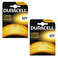 1/20 Duracell 377 Watch Batteries Silver Oxide 1.55v Battery D377 AG4 UK