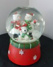 Christmas musical snow globe snowman