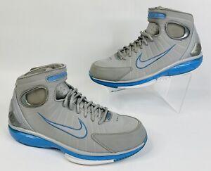Nike Air Zoom Huarache 2K4 Men's Sz 10.5 Wolf Grey Blue Kobe Bryant 308475-002