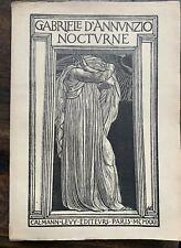 ROMAN - Gabriele d'Annunzio - NOCTURNE - illustré -  LDG9527