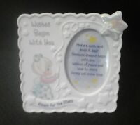 """Precious Moments Photo Frame """"Wishes Begin With You"""" Reach For The Stars"""
