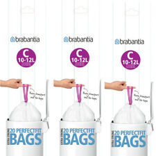 60 Genuine Type C Brabantia Smartfix Bin Bags Liners 10-12 Litre 3 Packs of 20