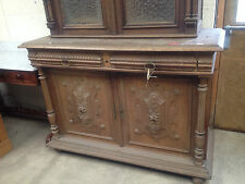 19th century carved pussy oak lion mask gothic library bookcase dressergreenman1