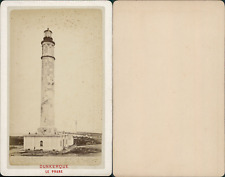 France, Dunkerque, le phare Vintage CDV albumen carte de visite CDV, tirage