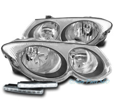 FOR 99-04 CHRYSLER 300M HALOGEN REPLACEMENT CHROME HEADLIGHTS LAMP W/LED DRL KIT