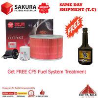 Sakura 4WD Filter Kit For TOYOTA LANDCRUISER UZJ100R 2UZ-FE cyl8 4.7l Ptl 98-07