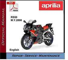 aprilia rs50 2006 onwards workshop service repair manual