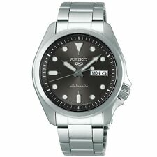 Seiko 5 Sports Automatic Grey Dial Silver Steel Men's Watch SRPE51K1 RRP £230