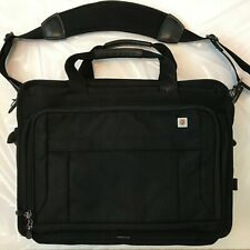 Victorinox Swiss Army Black Laptop Messenger Cross-body Expandable Bag Briefcase