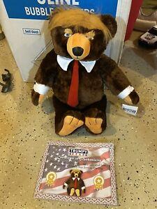 GENUINE Trumpy Bear Deluxe w Cert Of Authenticity & American Flag Blanket Cape