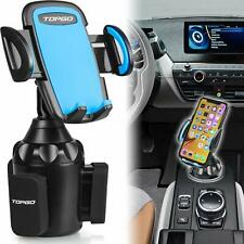 [Upgraded] TOPGO Universal Adjustable Cup Holder Cradle Car Mount for Cell Phone