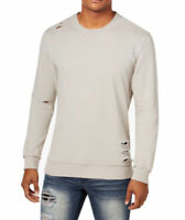 NEW INC International Concepts Men's Ripped Sweatshirt Smoked Silver MSRP $55.00