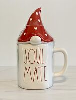 Rae Dunn SOUL MATE Mug with Red Gnome Topper.