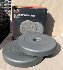 2 X 2kg   Metal Dumbbell weight plates New High Quality New Boxed
