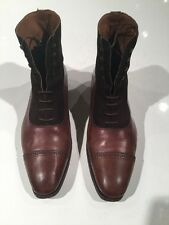MEERMIN Brown Leather/Suede balmoral boots 8.5 UK (9.5 US)
