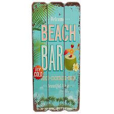 Beach Bar Holzschild Welcome Wandschild Wanddeko Schild Cocktail Türschild MDF