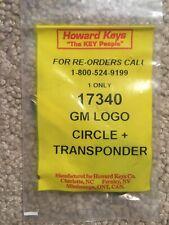 Howard Keys 17340 GM Logo Circle & Transponder key