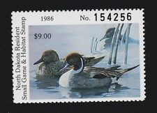 US ND44 $9 North Dakota State Duck Stamp SCV $20