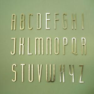 2.7inch Letter A-Z Door Sign Brass Digit Apartment Hotel Office Home Art Decor