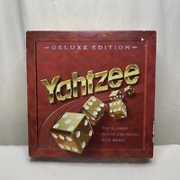 Yahtzee Deluxe Edition Gold Dice Game Vintage 1997 Milton Bradley Incomplete
