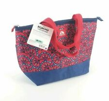 Igloo Cooler Bag Mini Essentials 8 Can Red Blue Abstract Lotus Design Lunch Tote