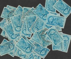 Postage Stamps For Crafting: 1945 5c Franklin D. Roosevelt; Blue; 50 Copies