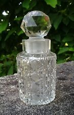 ANTIQUE BRITISH IRISH VICTORIAN CUT GLASS SCENT PERFUME BOTTLE / FLACON