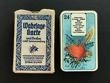 Antique 1920s Stralsund Lenormand Fortune Telling Cards VTG Verse