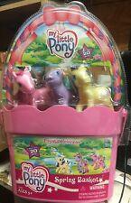 MY LITTLE PONY 2003 Spring Basket Playset New Sealed Garden Glade Bubblecup etc.