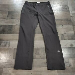 L.L. Bean Black Adult Womens Size 8 Regular Solid Low Rise Activewear Snow Pants