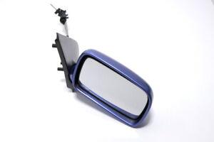 VW Polo 6N Manual Espejo Derecho Exterior Azul LR5V Espejo Cristal