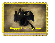 Toothless How to Train a dragon Party Edible Cake Topper 1/4 icing sheet