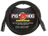 10ft Pig-Hog XLR 3-Pin M/F DMX Shielded Stage Lighting Data Cable, DX-0010P