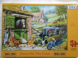 Brand New House of Puzzles BIG250 Large Piece Jigsaw Puzzle - DOWN ON THE FARM