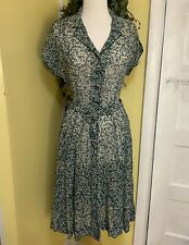 Vintage Nelly Don Dress 1940's with Original Matching Belt