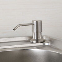 EUB Deck Mounted  Kitchen Sink Liquid Soap Dispenser Pump Bottle Brushed Nickel