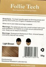 Keratin Hair Fibers Light Brown 100g Refill Hair Loss  Free Shipping Save 40%