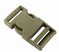 """Coyote Tan GhillieTex IRR 25mm Side Release Buckle (DIY Tactical military 1"""" ITW"""
