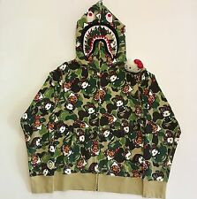 A Bathing Ape X Hello Kitty Camo Shark Hoodie Medium Rare Multi