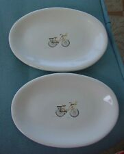Rae Dunn Bicycle Oval  Snack Plates Ceramic New SOLD OUT